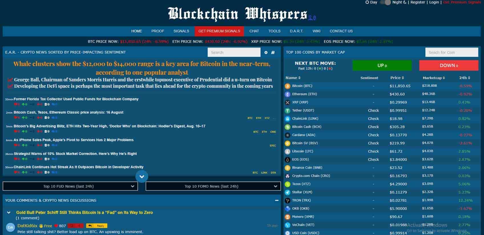 blockchain whispers