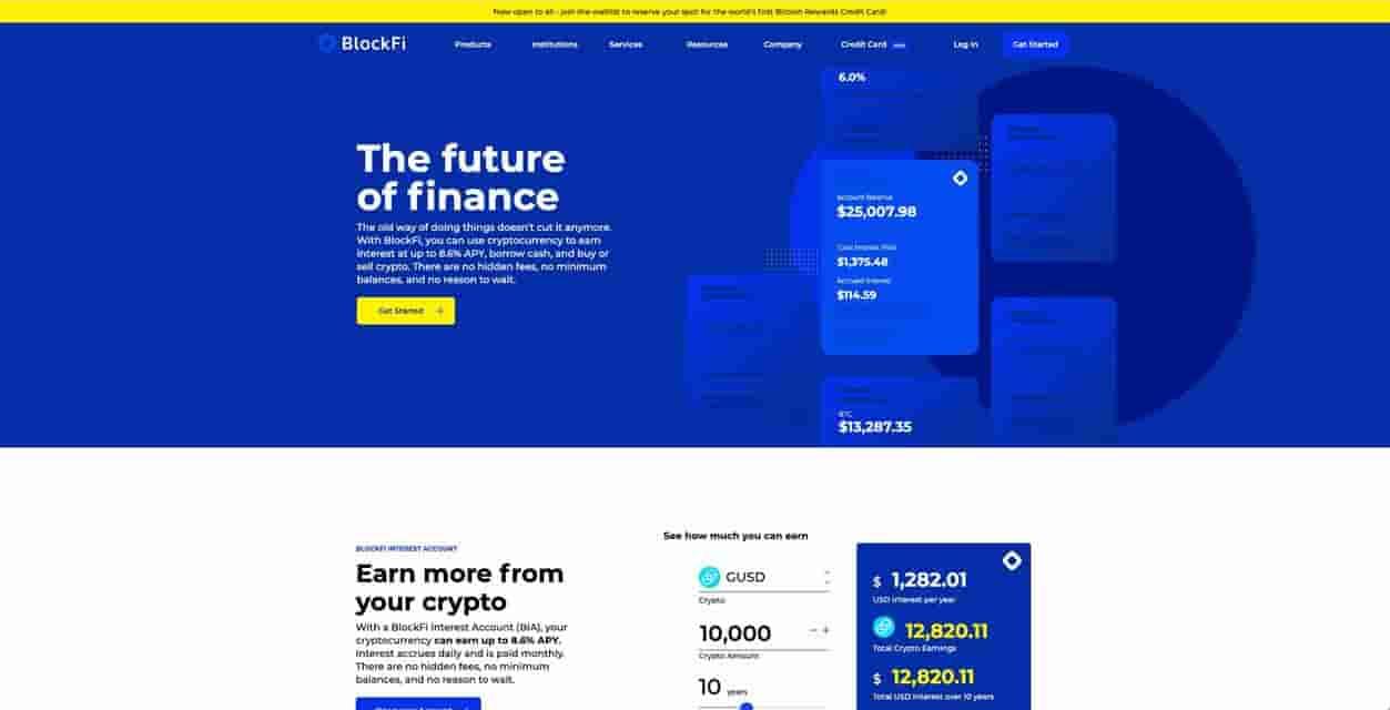 Blockfi bitcoin interest account