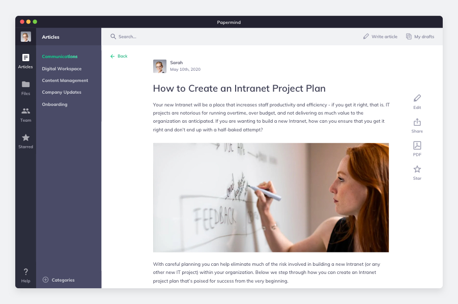 Papermind a slack wiki but more
