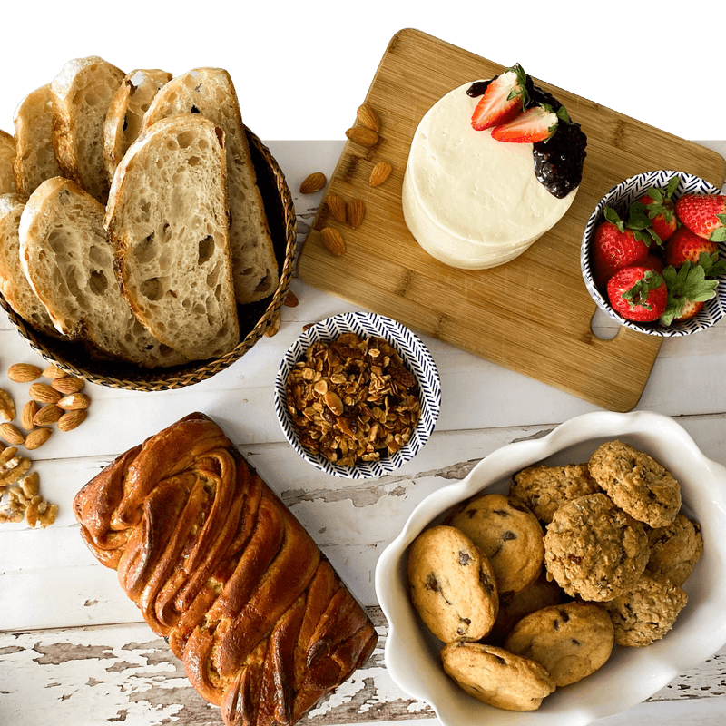 Sample of different cannella bakery products