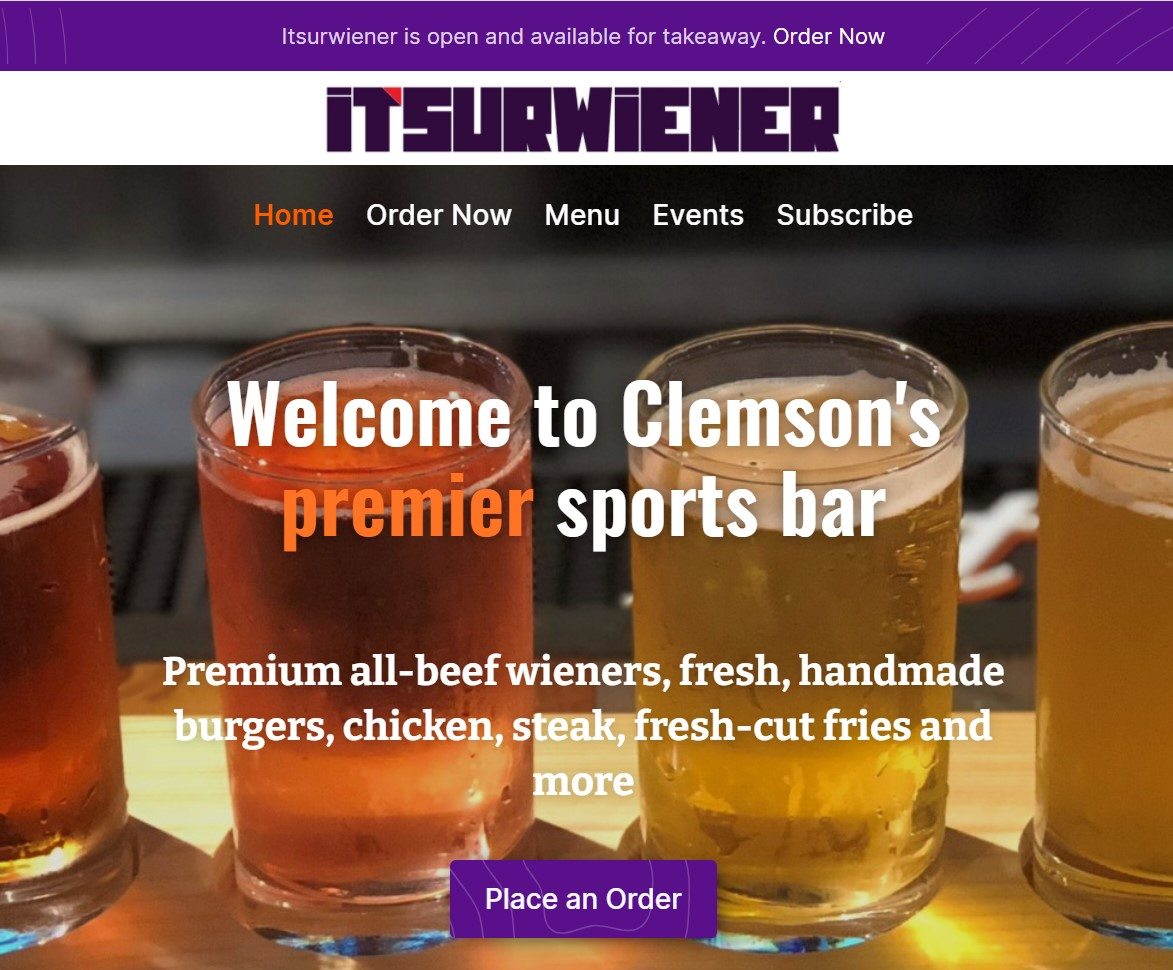 Itsurwiener is a website Barracuda Designs was hired to make