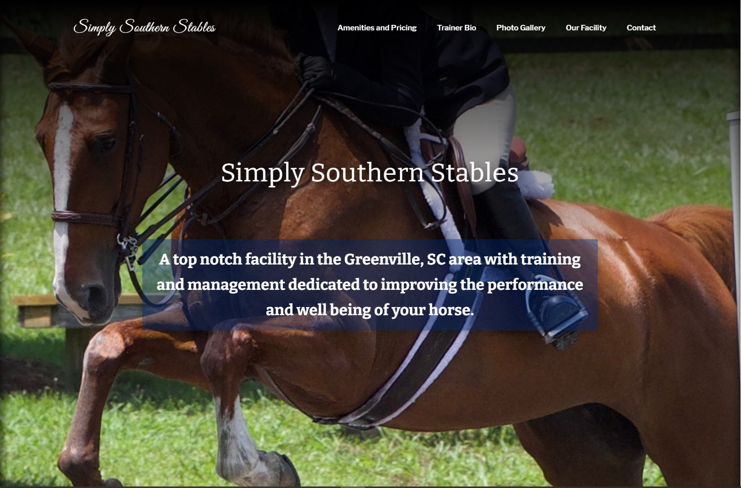 Simply Southern Stables is a website Barracuda Designs was hired to make