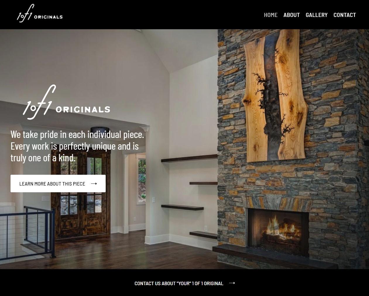 Screenshot of 1 of 1 originals website
