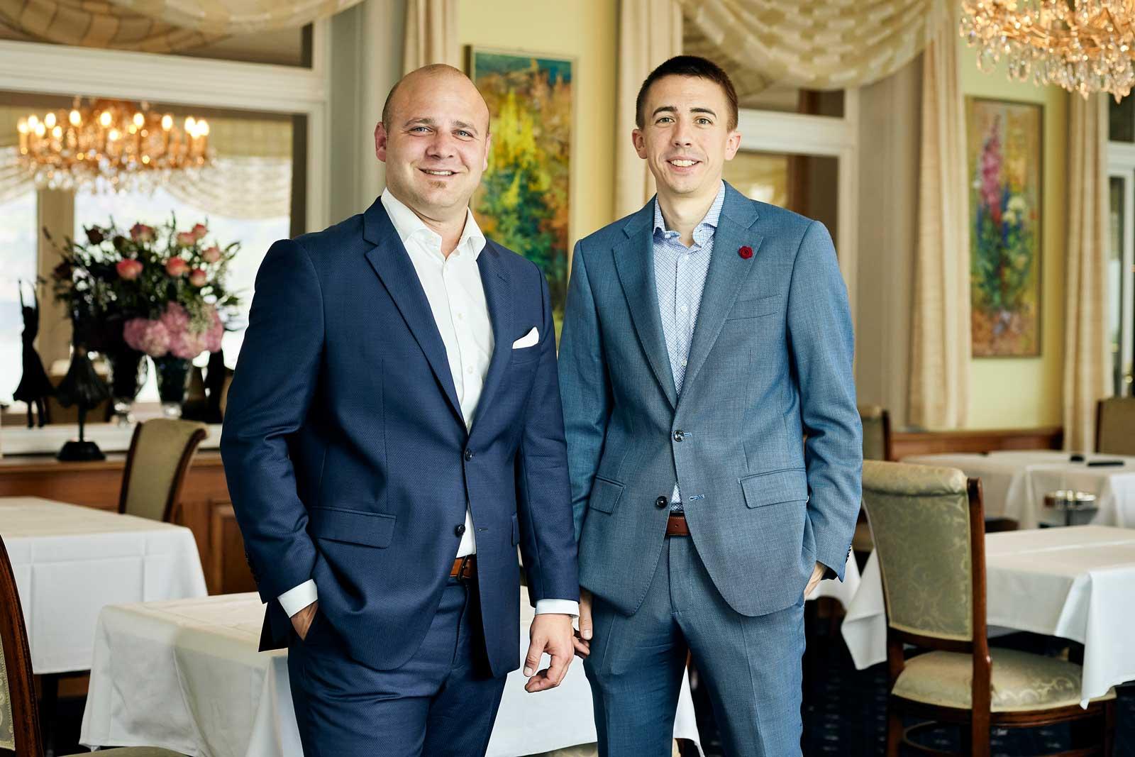 Bruno Affentranger und David Romanato, Hoteldirektoren