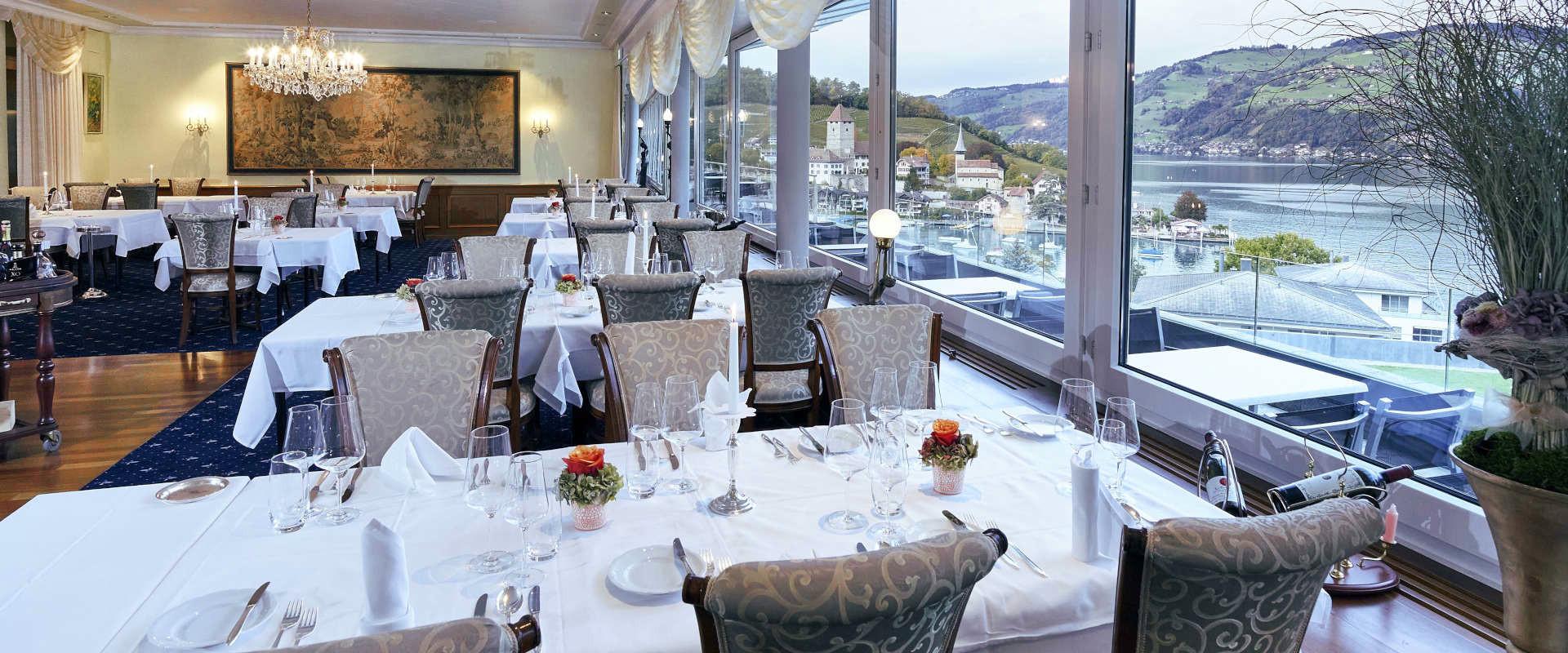 Speisesaal Restaurant Belvédère Spiez
