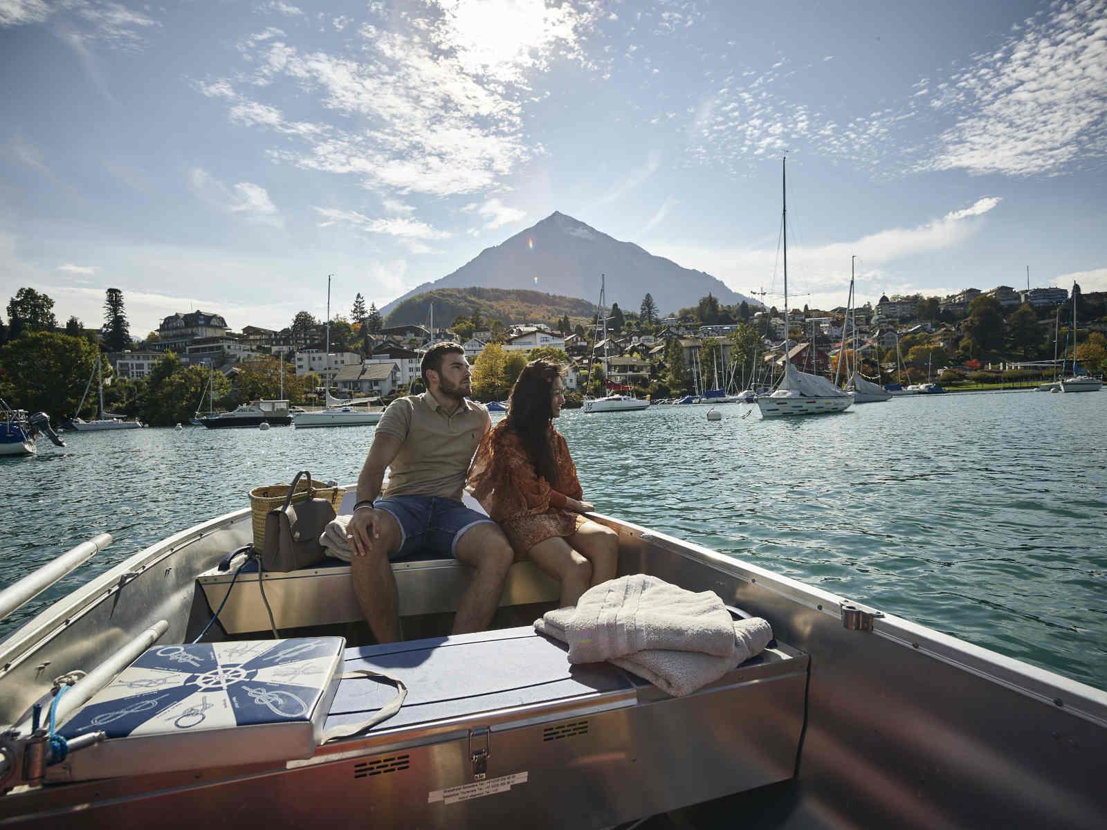 Pärchen im Boot