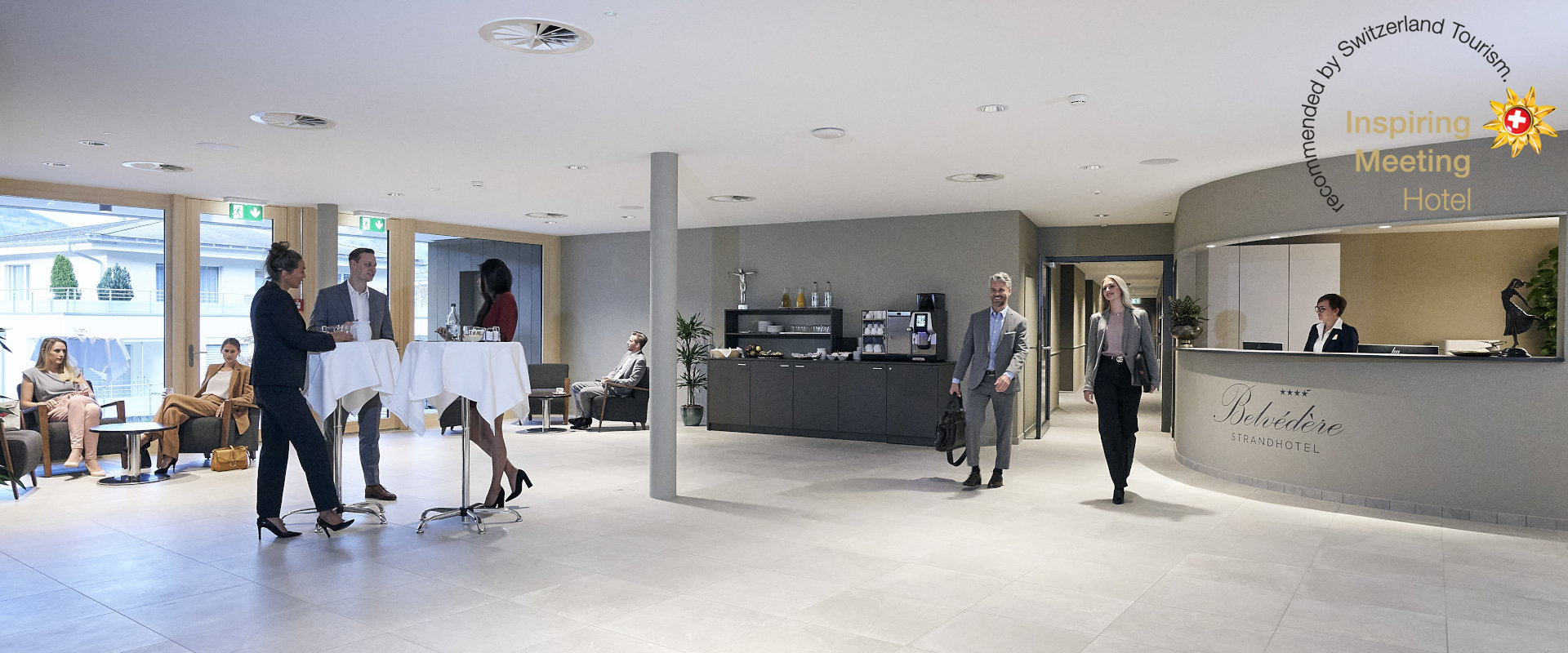 Lobby Seminartrakt im Belvédère Strandhotel