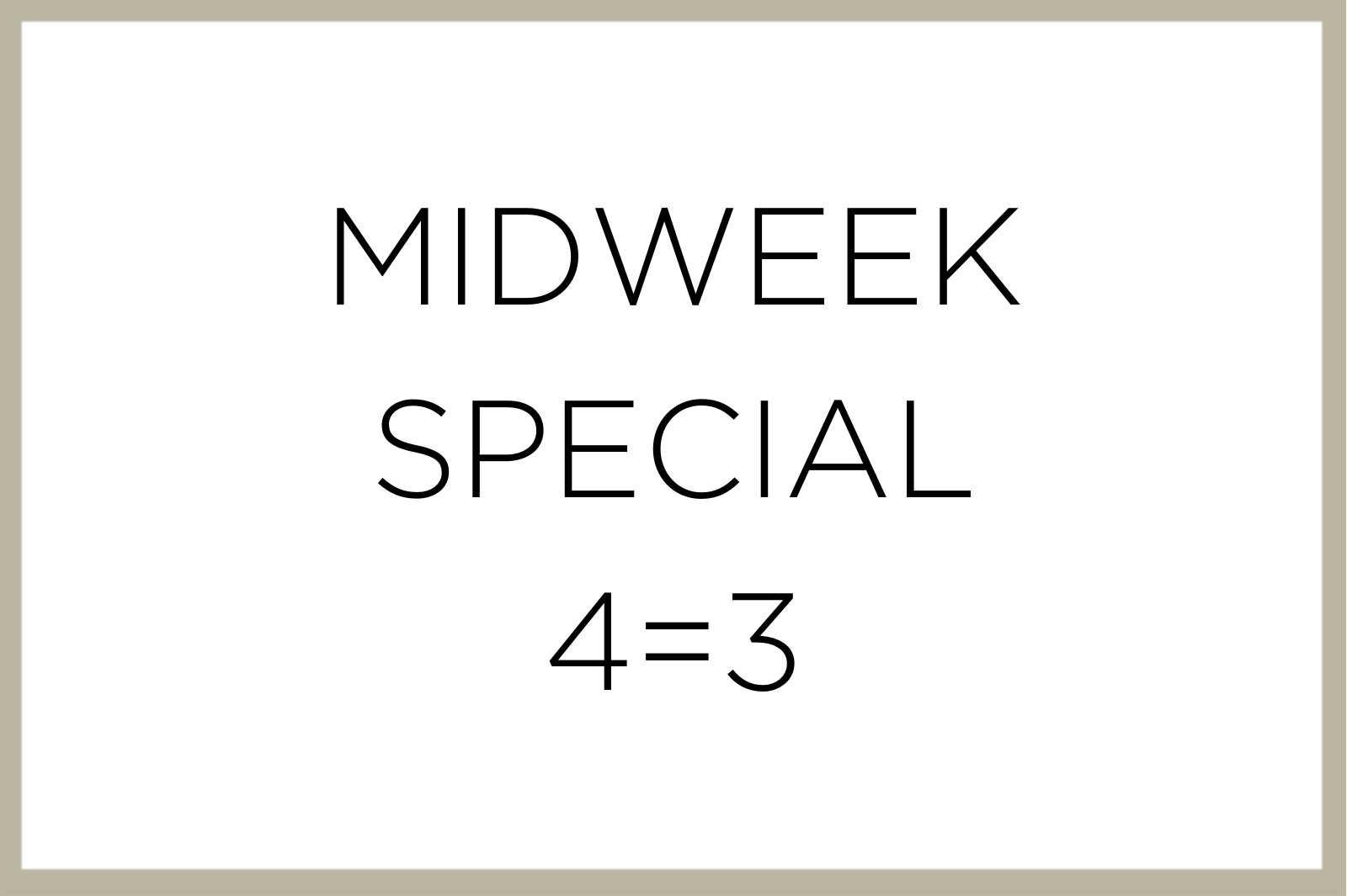 Text Midweek Special