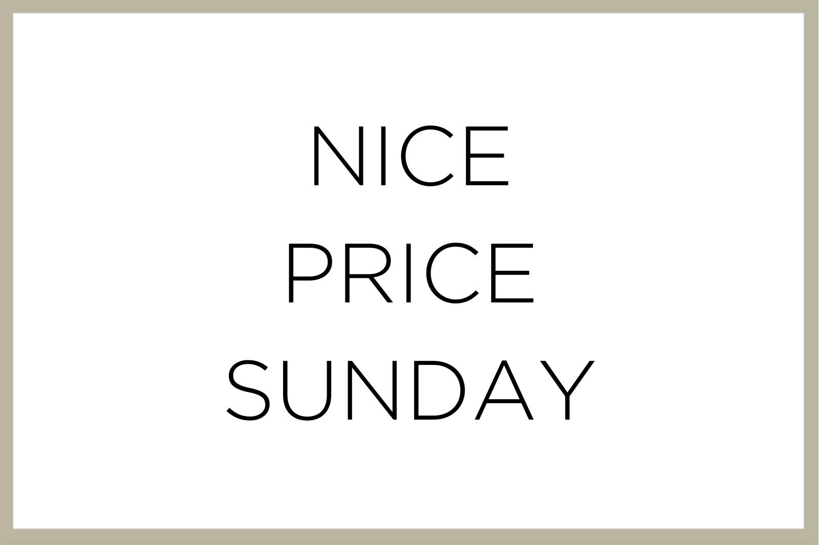 Text Nice Price Sunday
