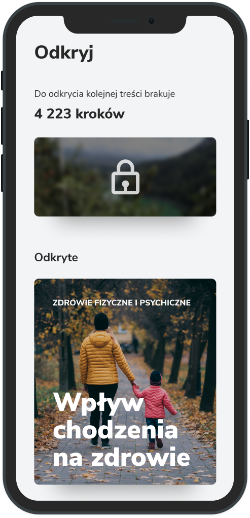 Aplikacja mobilna Victor - zakładka Odkryj