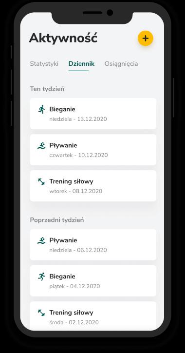 Aplikacja Victor lista aktywności