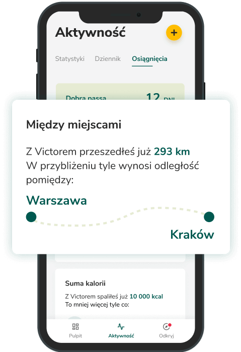 Aplikacja Victor między miejscami