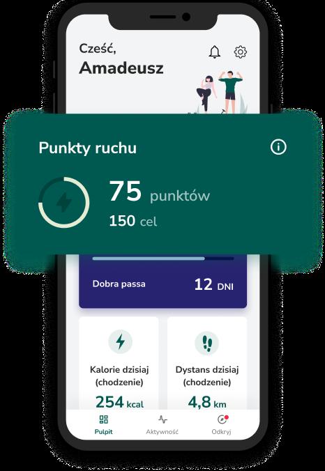 Aplikacja Victor punkty ruchu