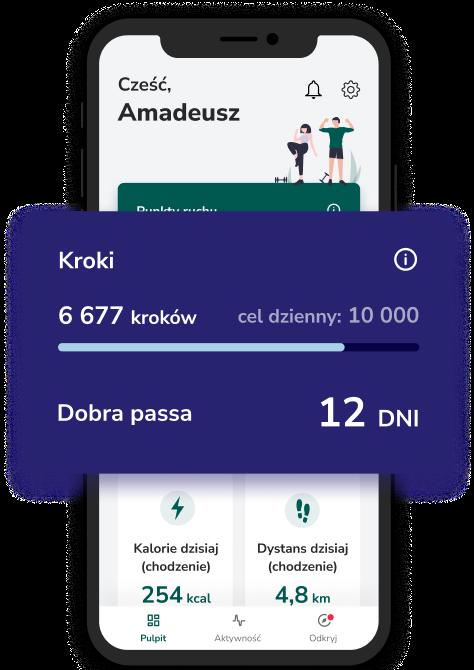 Aplikacja Victor - dzienny cel kroków