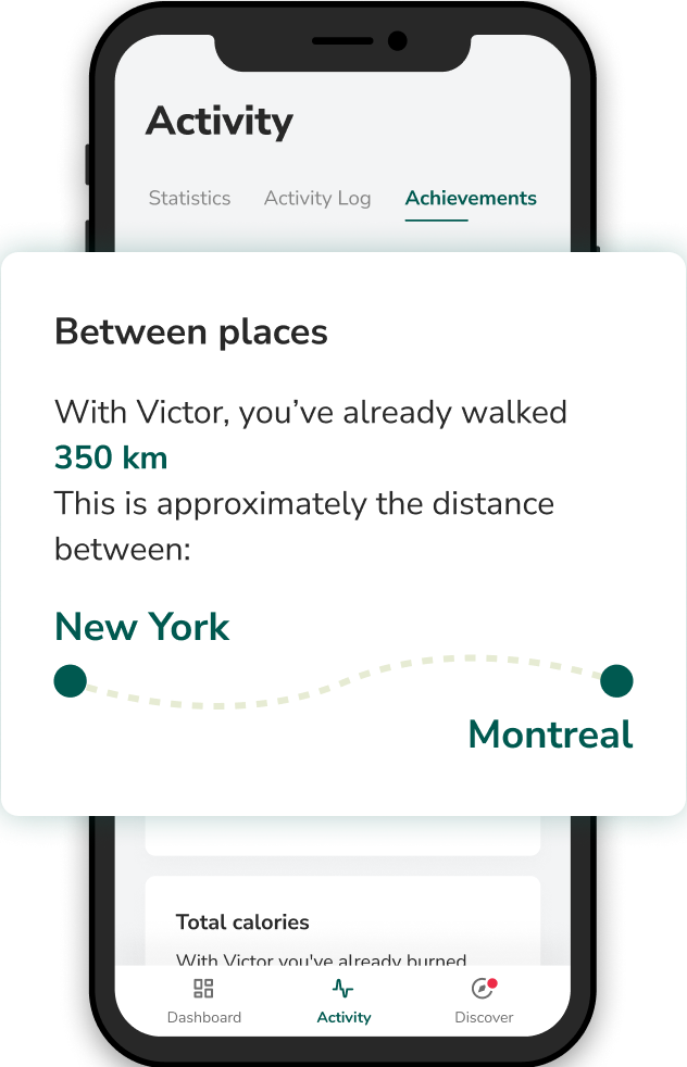 Victor mobile application - distance