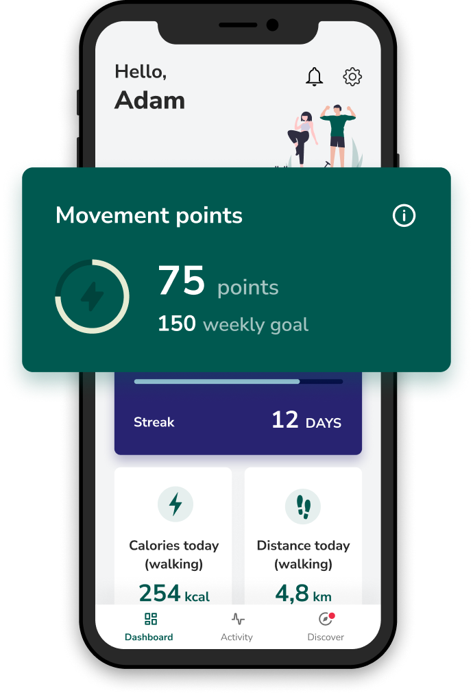 Victor mobile application - movement points