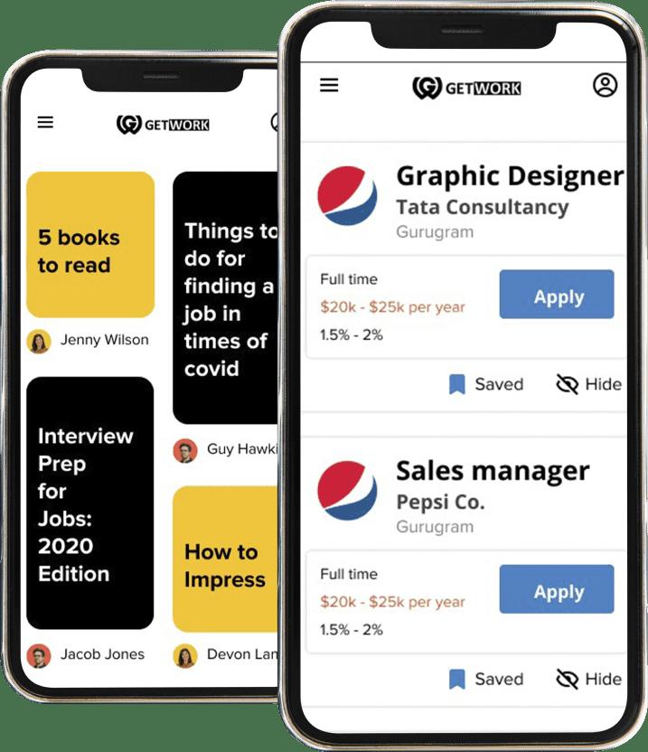 GetWork Mobile Dashboard