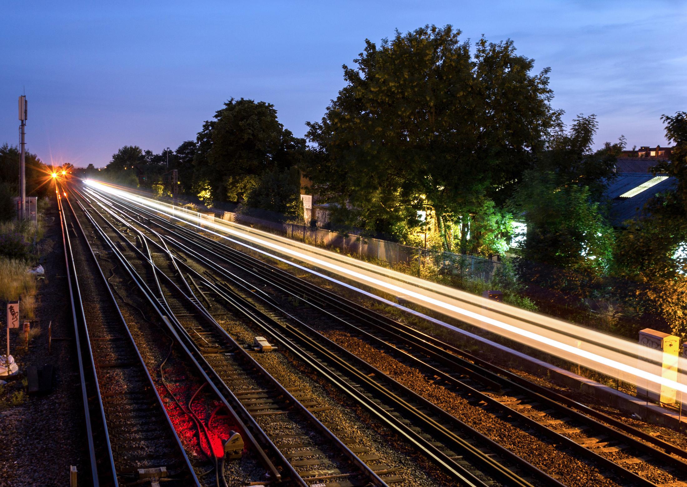 Railway lines at Wimbledon, London