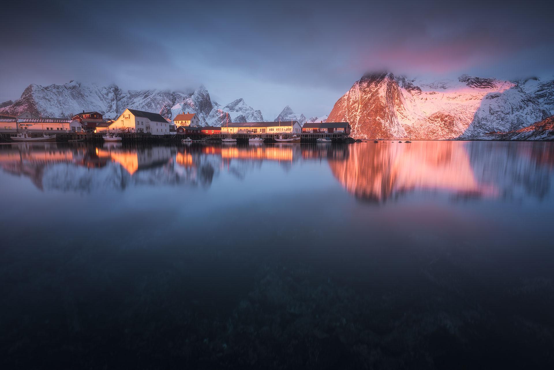 Golden hour at Lofoten, Norway