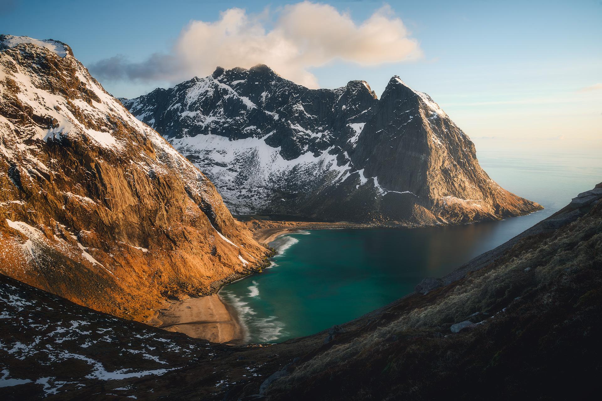 Daytime landscape in Lofoten, Norway