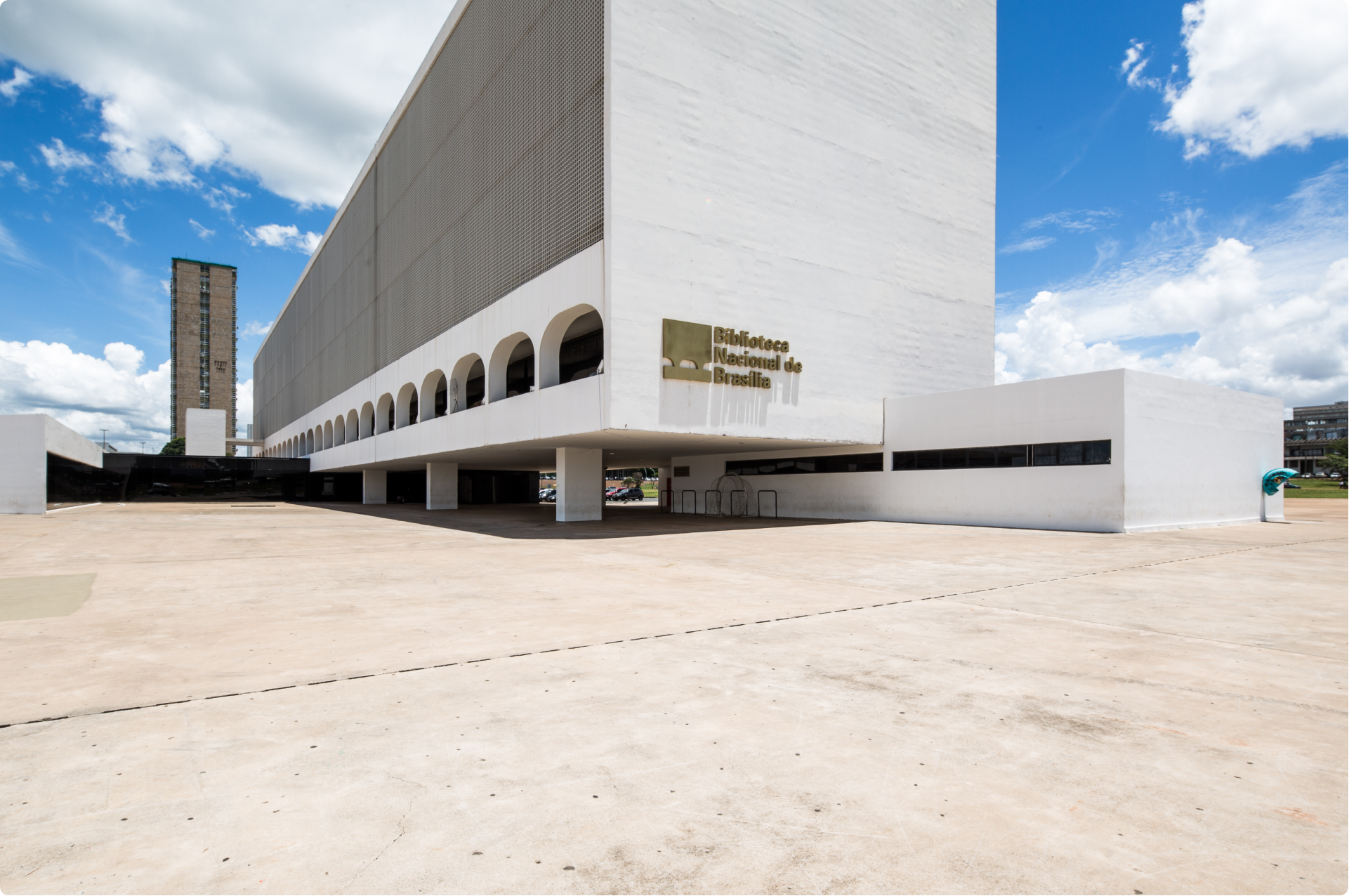 Exterior of the National Library of Brasilia