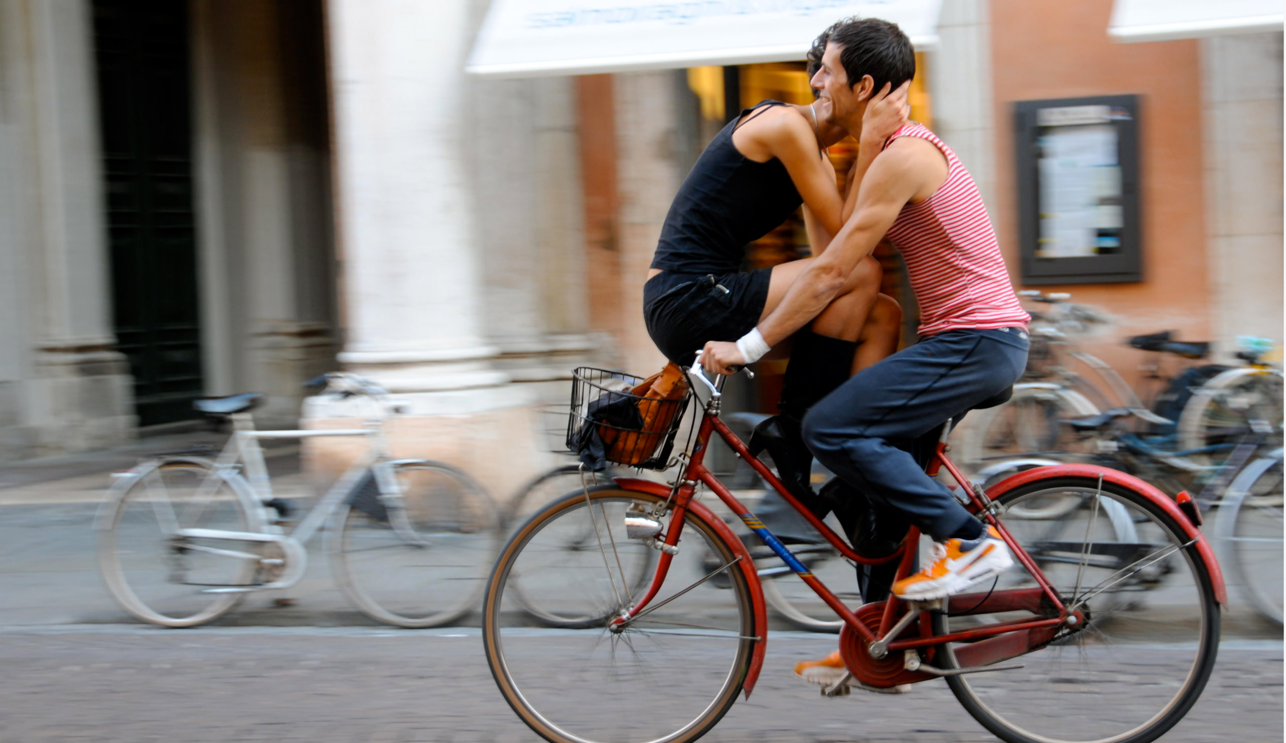 Bike riding in Ravenna, Italy