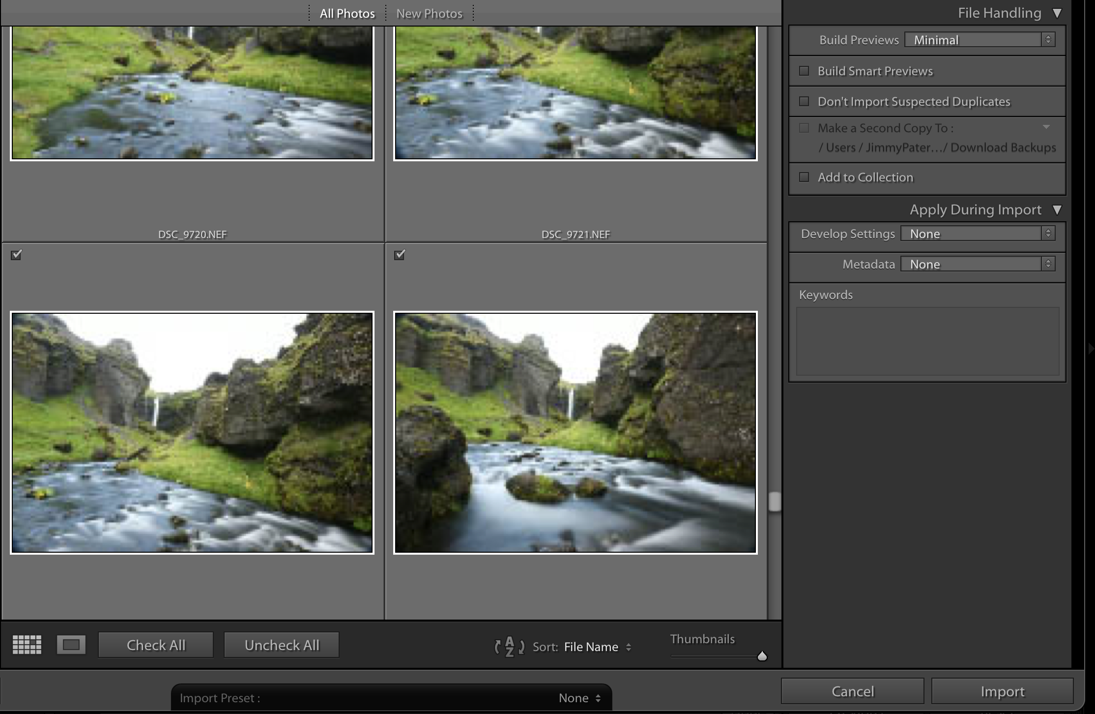 The library module in the Lightroom interface