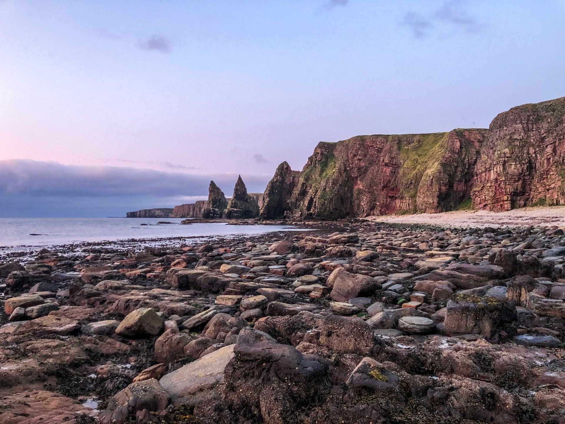 Seascape at a rocky shoreline