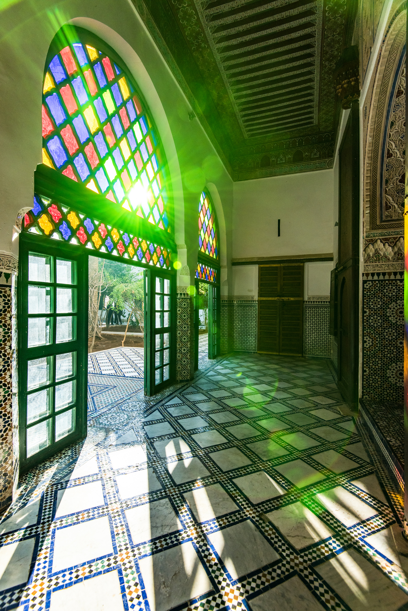 Interior of the Bahia Palace in Marrakesh, Morocco