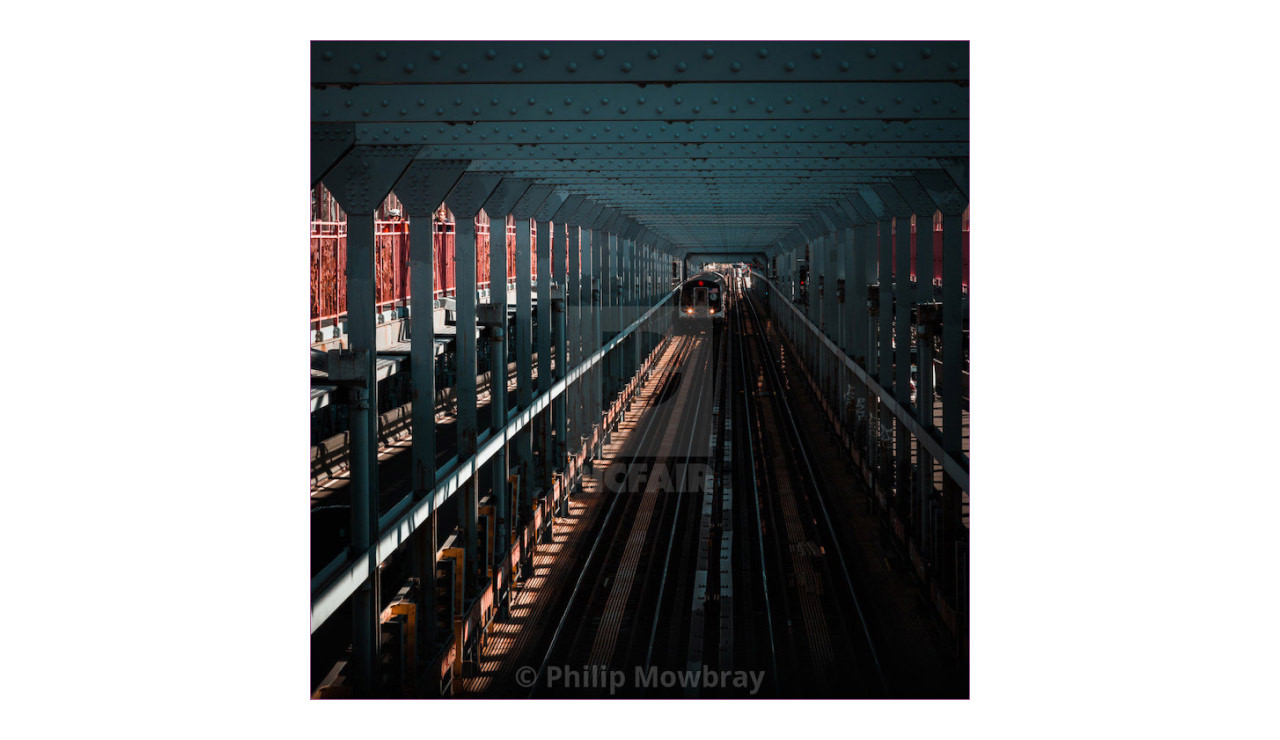 Image of the New York Subway with a Picfair watermark overlaid