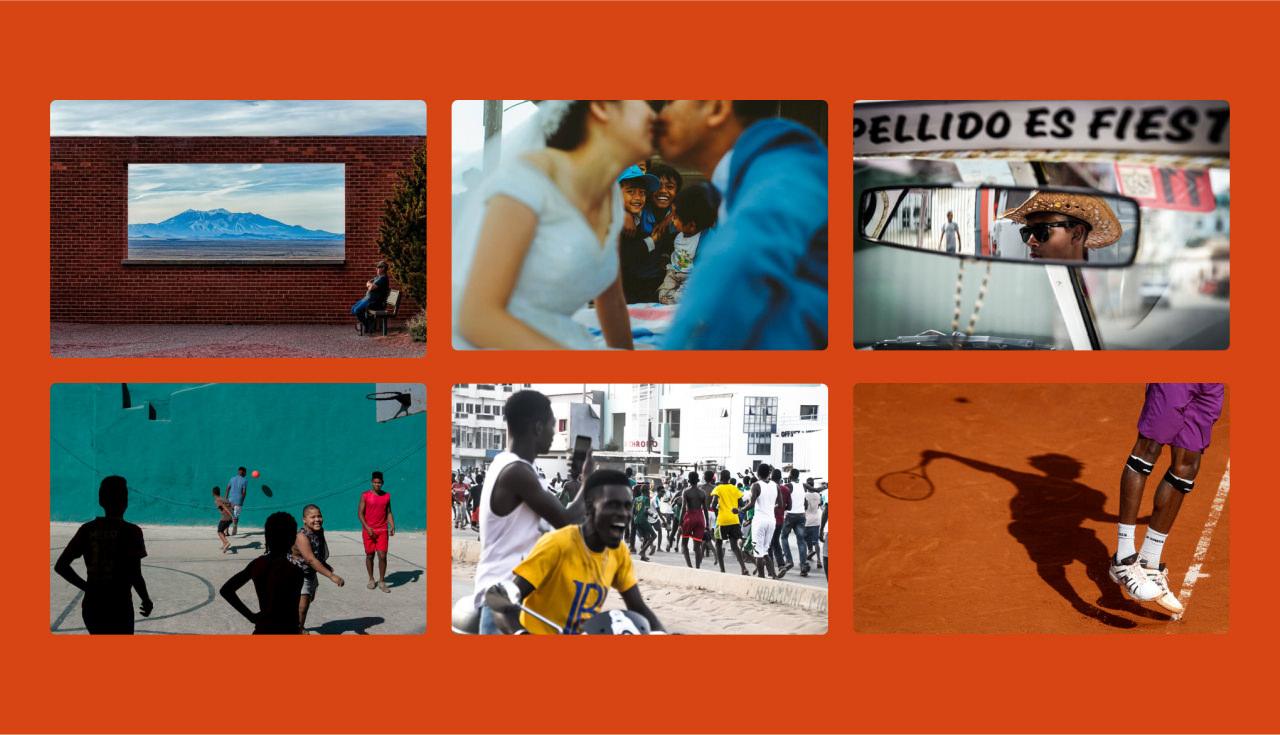 A montage of images featuring unique compositions