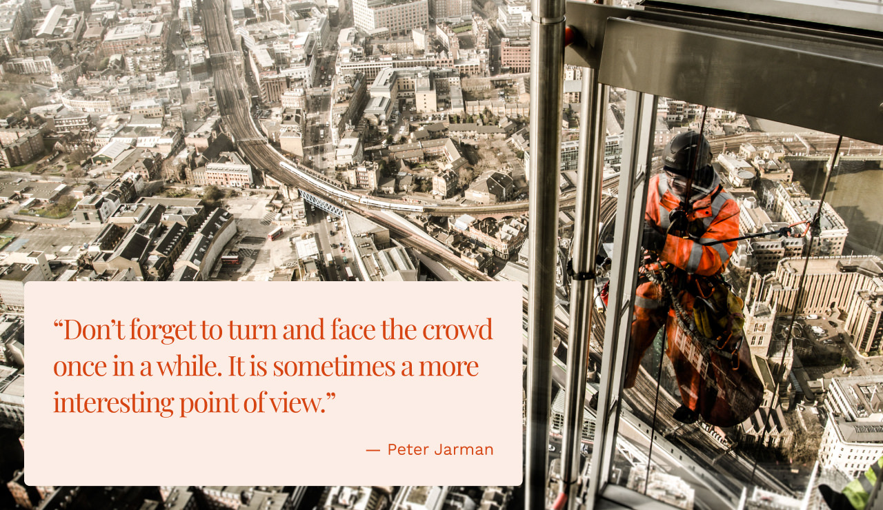 Worker on The Shard, London