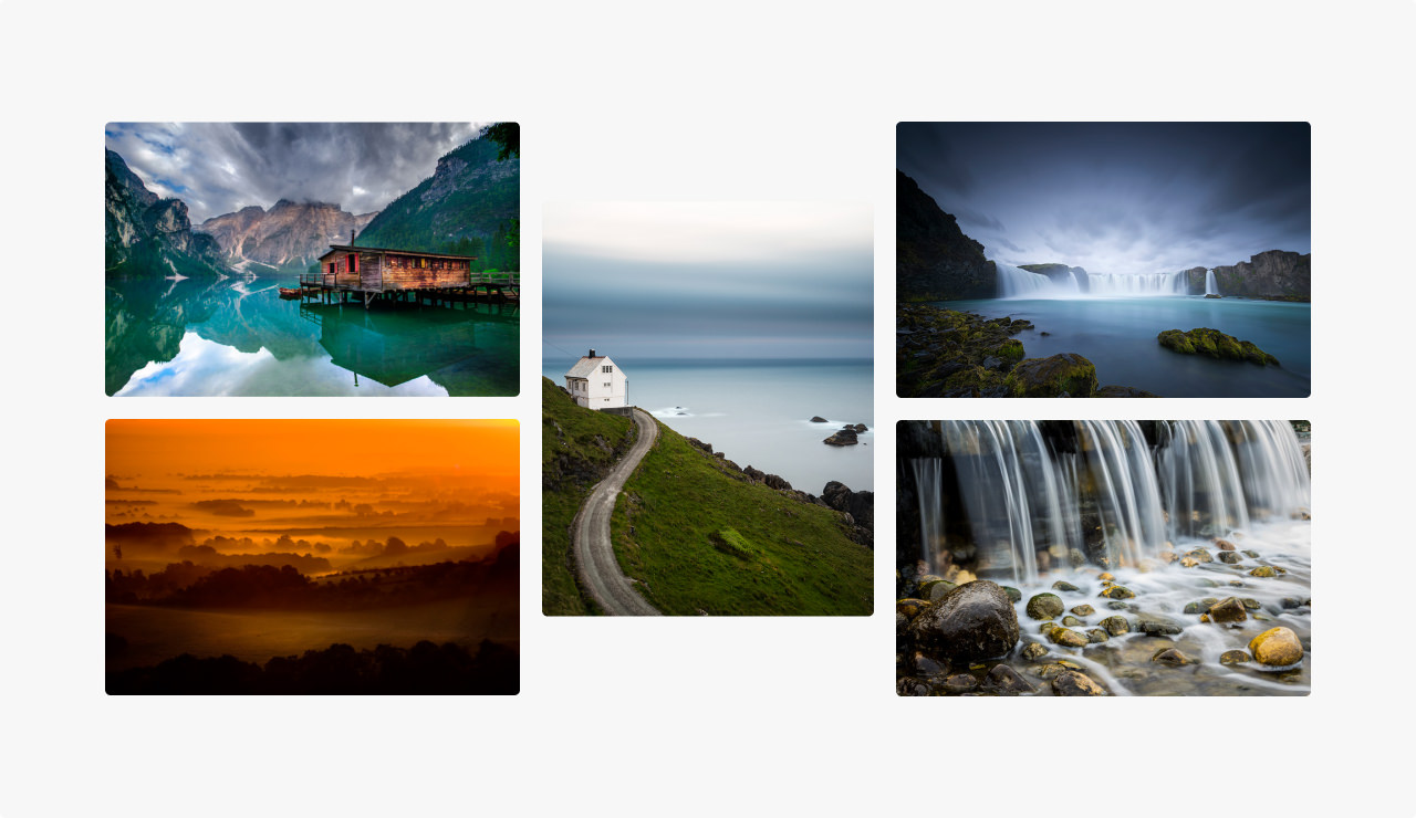 Montage of images of serene scenes