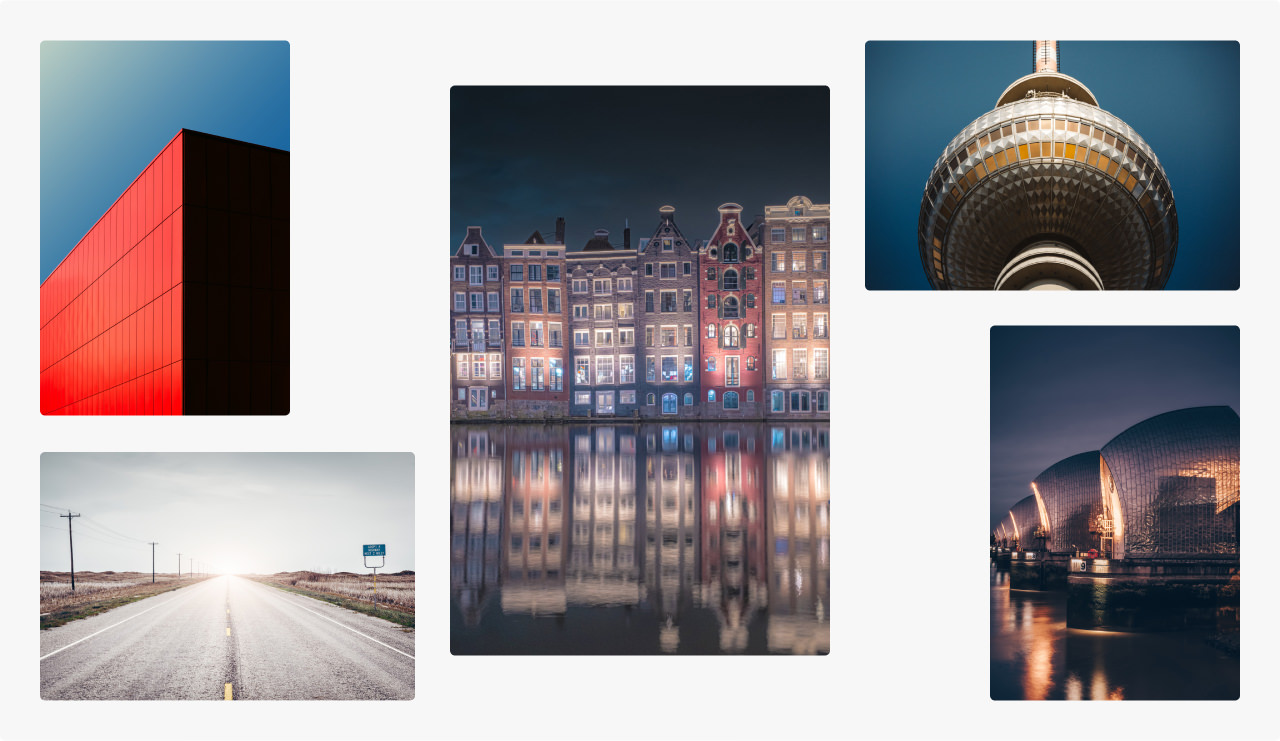 Montage of images with soft, subdued colours