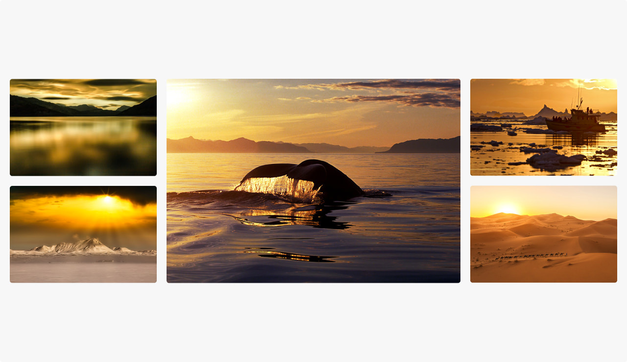 Montage of images shot during the golden hour