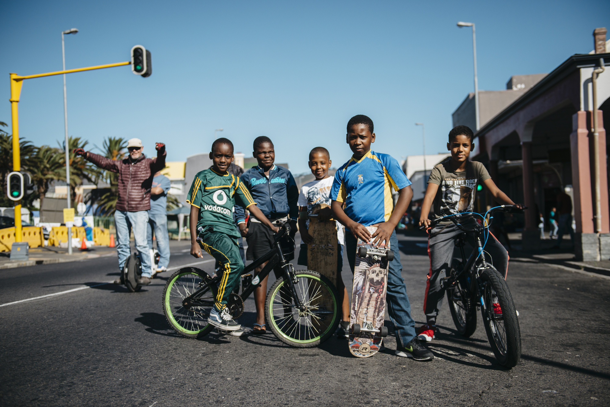 A group of kids in Capetown, South Africa.