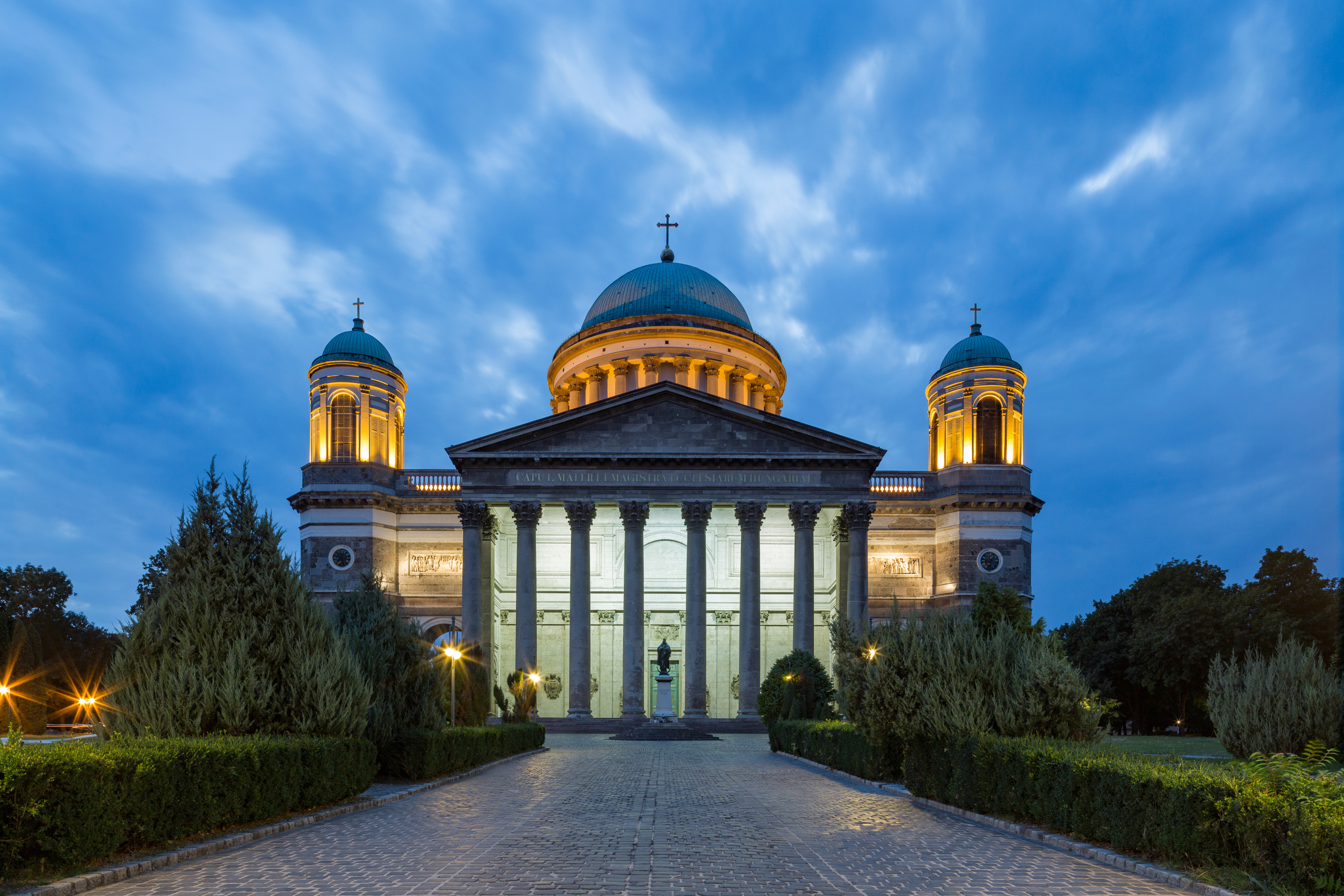 A centred composition of a church in Helsinki, Finland.