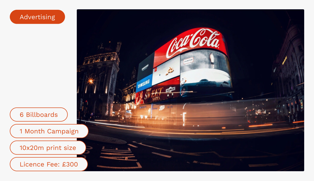Piccadilly Circus at night long exposure