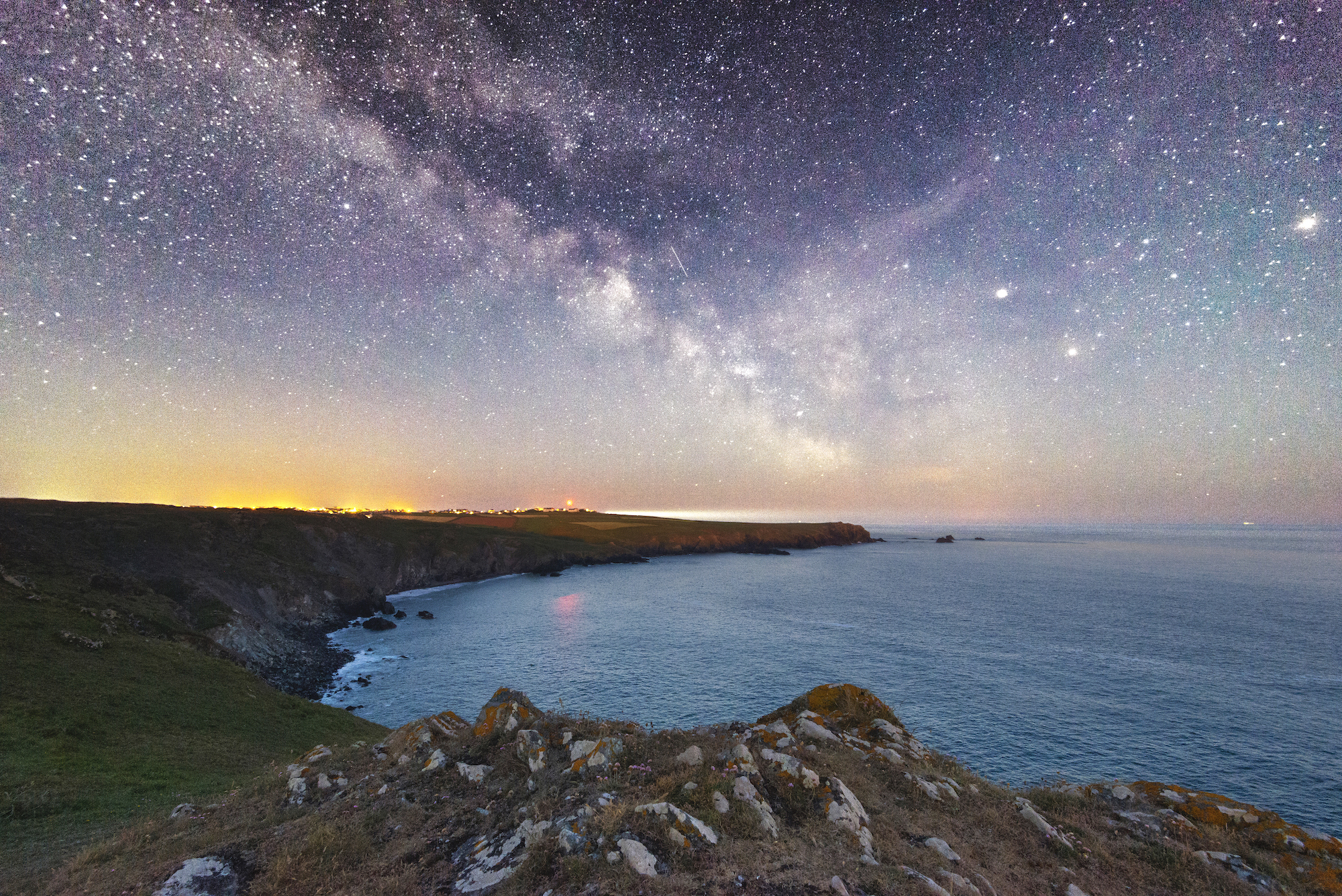 The Milky Way over the Cornish coastline at Kyance Cove.