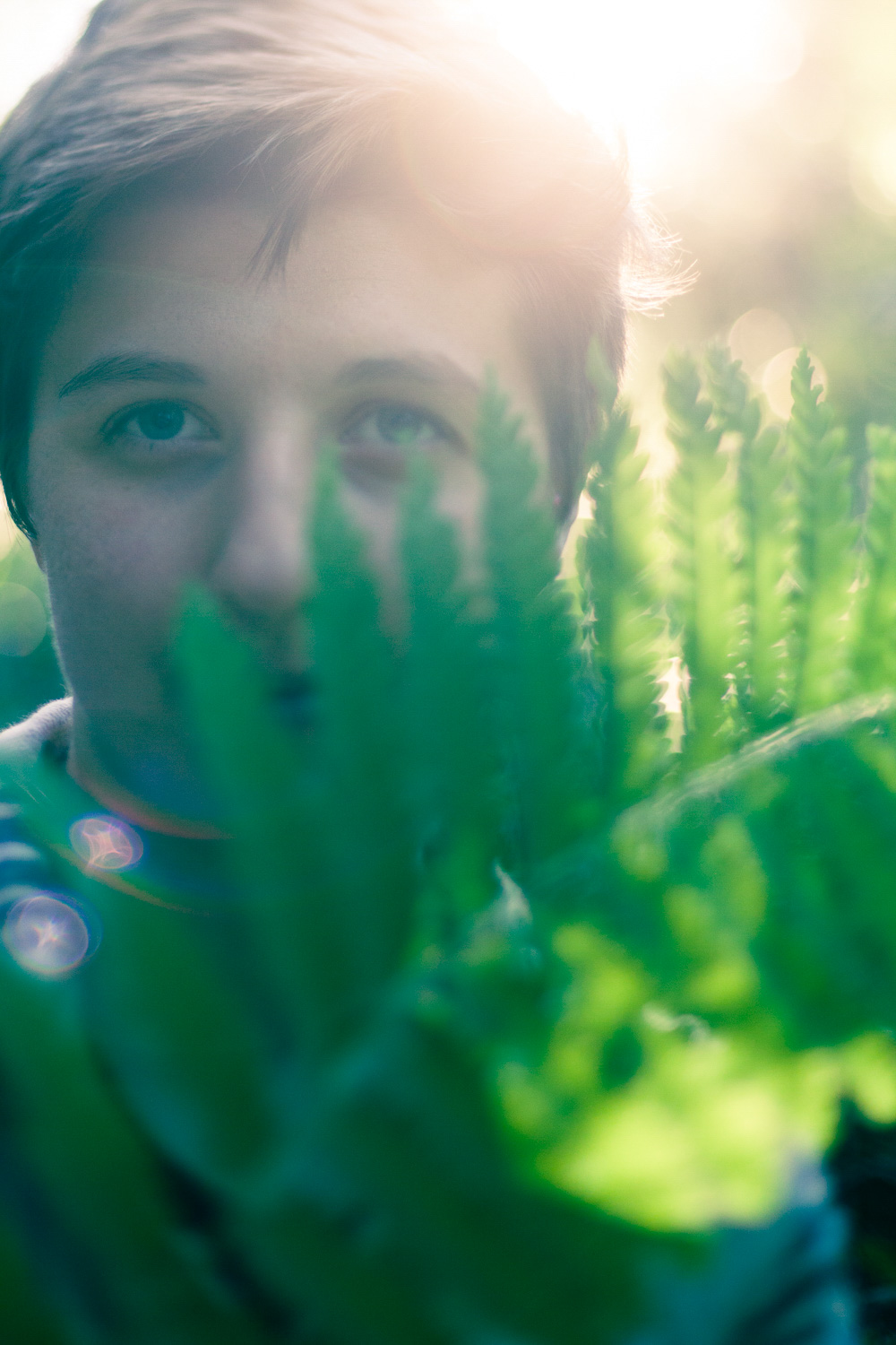 Portrait of a boy with backlighting and split toning applied