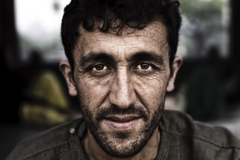 Closeup portrait of an Afghan man