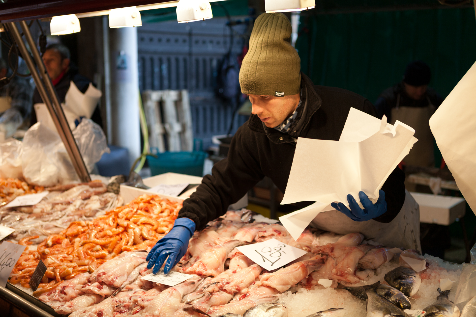 Portrait of a vendor at a market