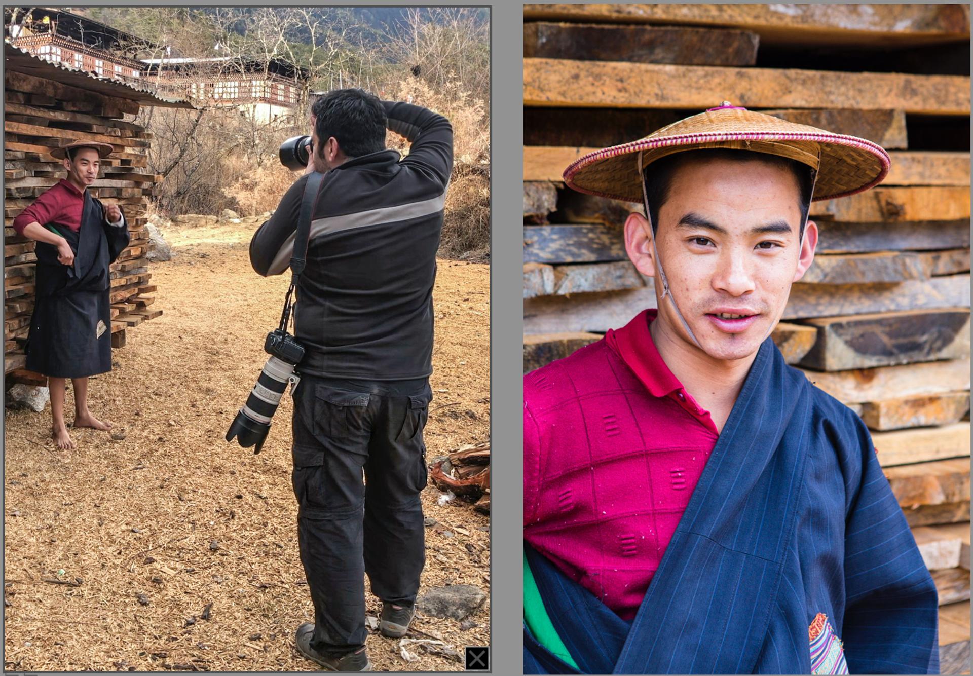 Photographer taking a portrait picture
