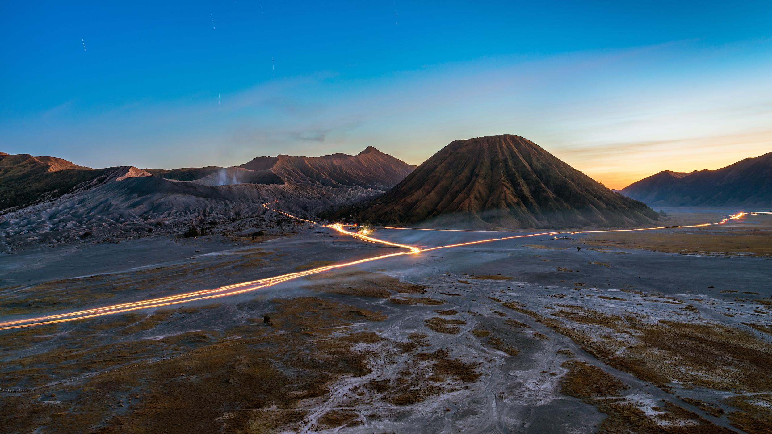 Dusk at Mount Bromo, Indonesia