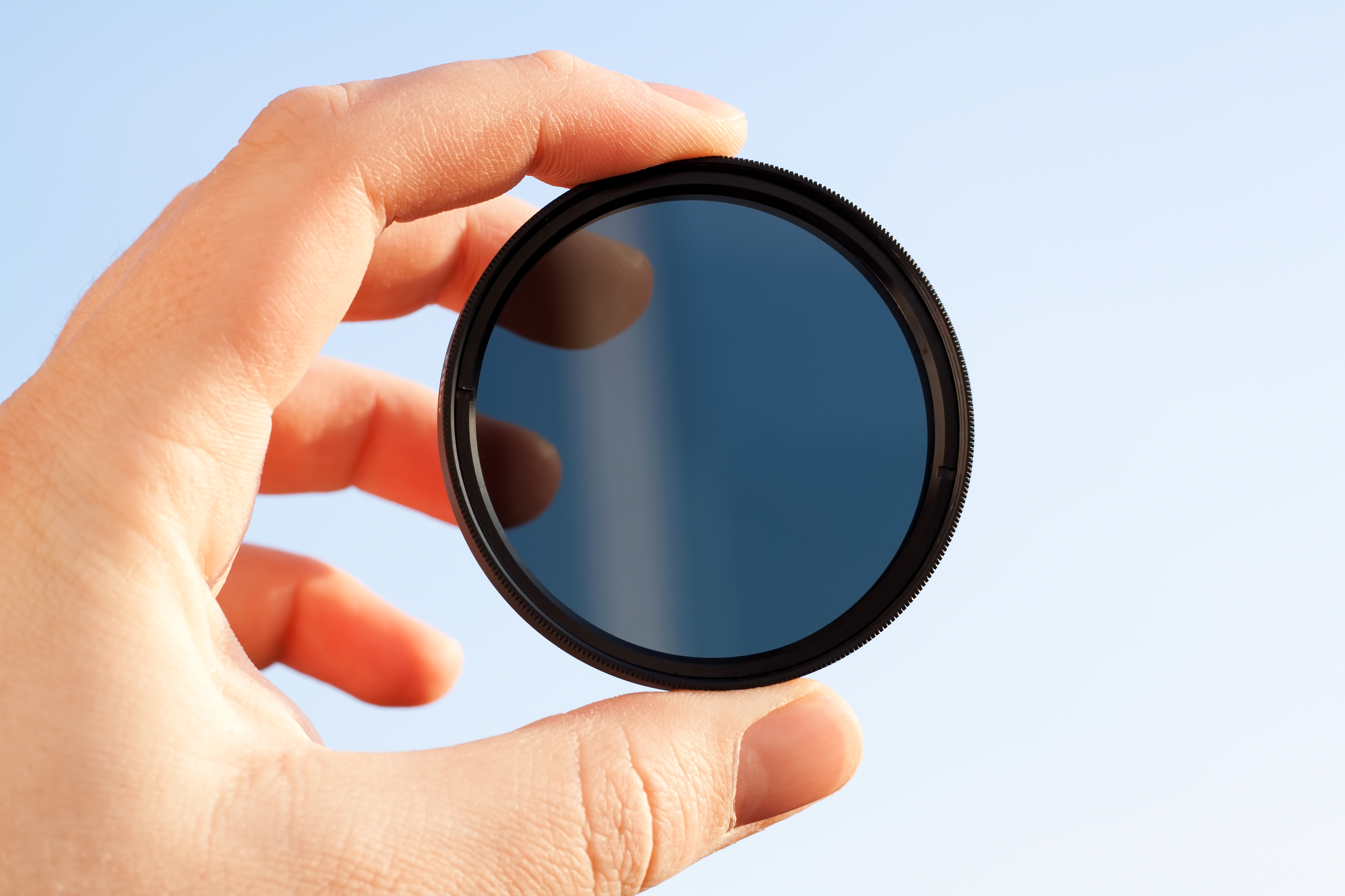 Example of a screw-onND filter that is placed directly on the lens