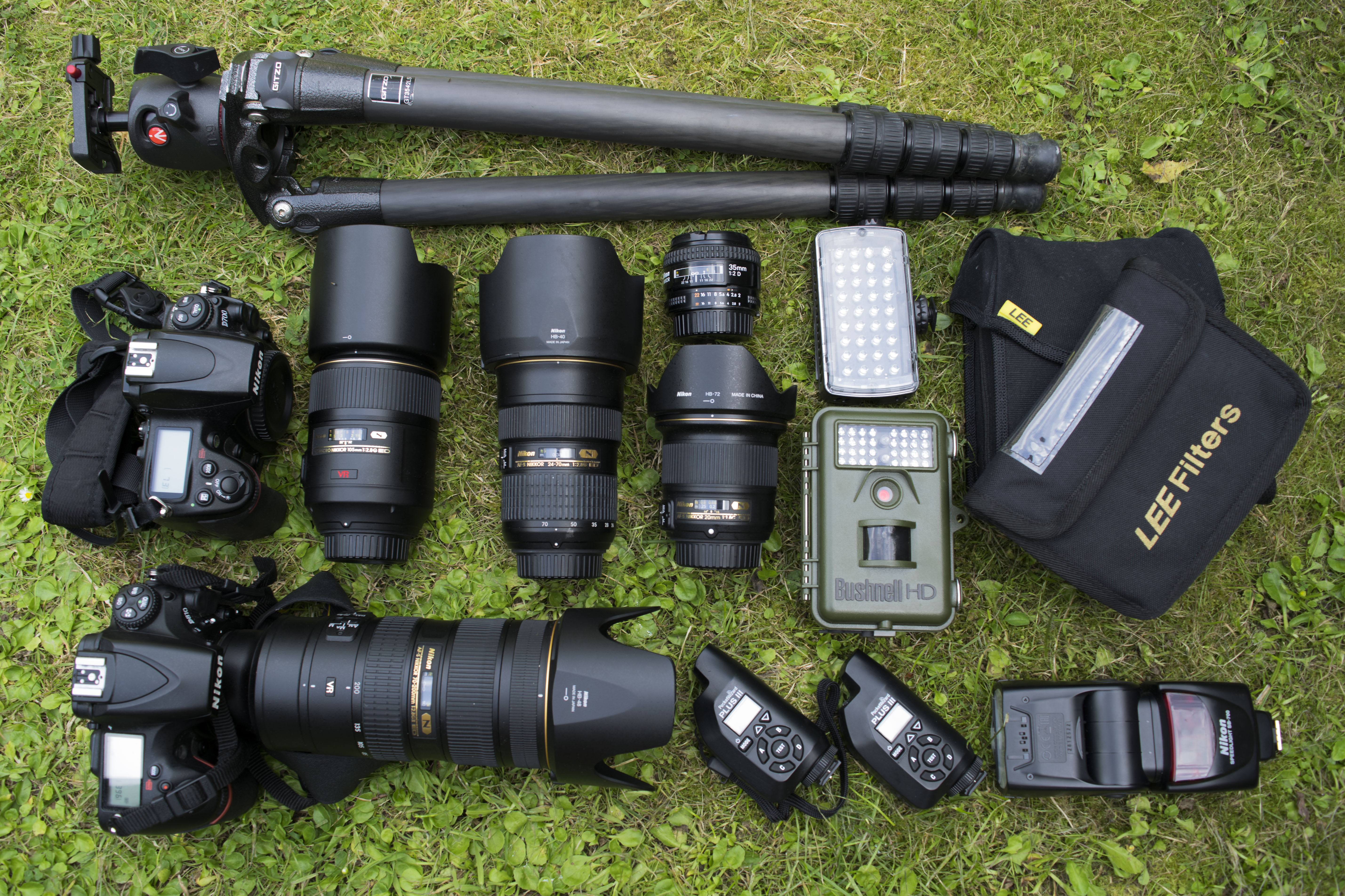 Camera gear and kit for wildlife photography