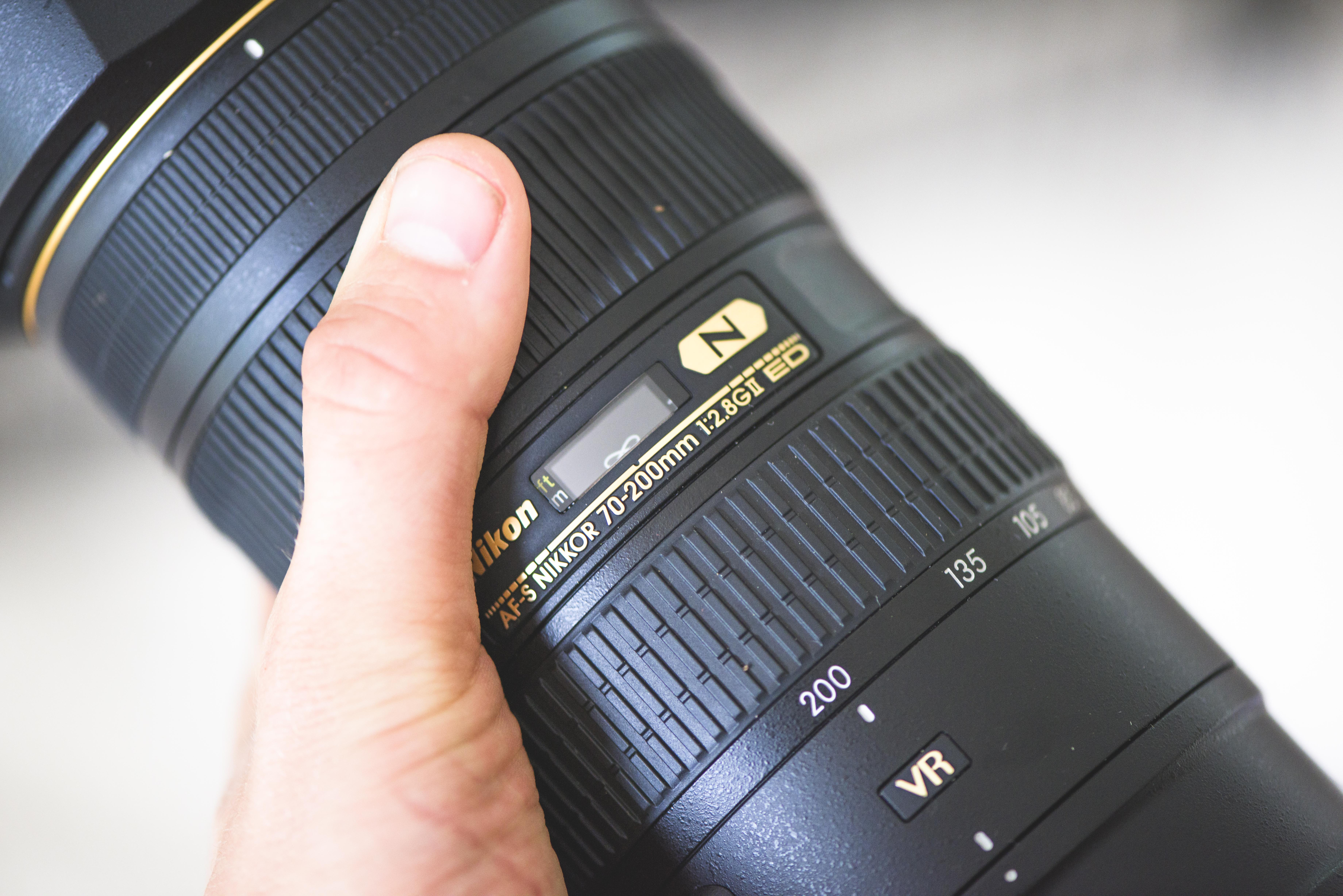 Holding a telephoto lens