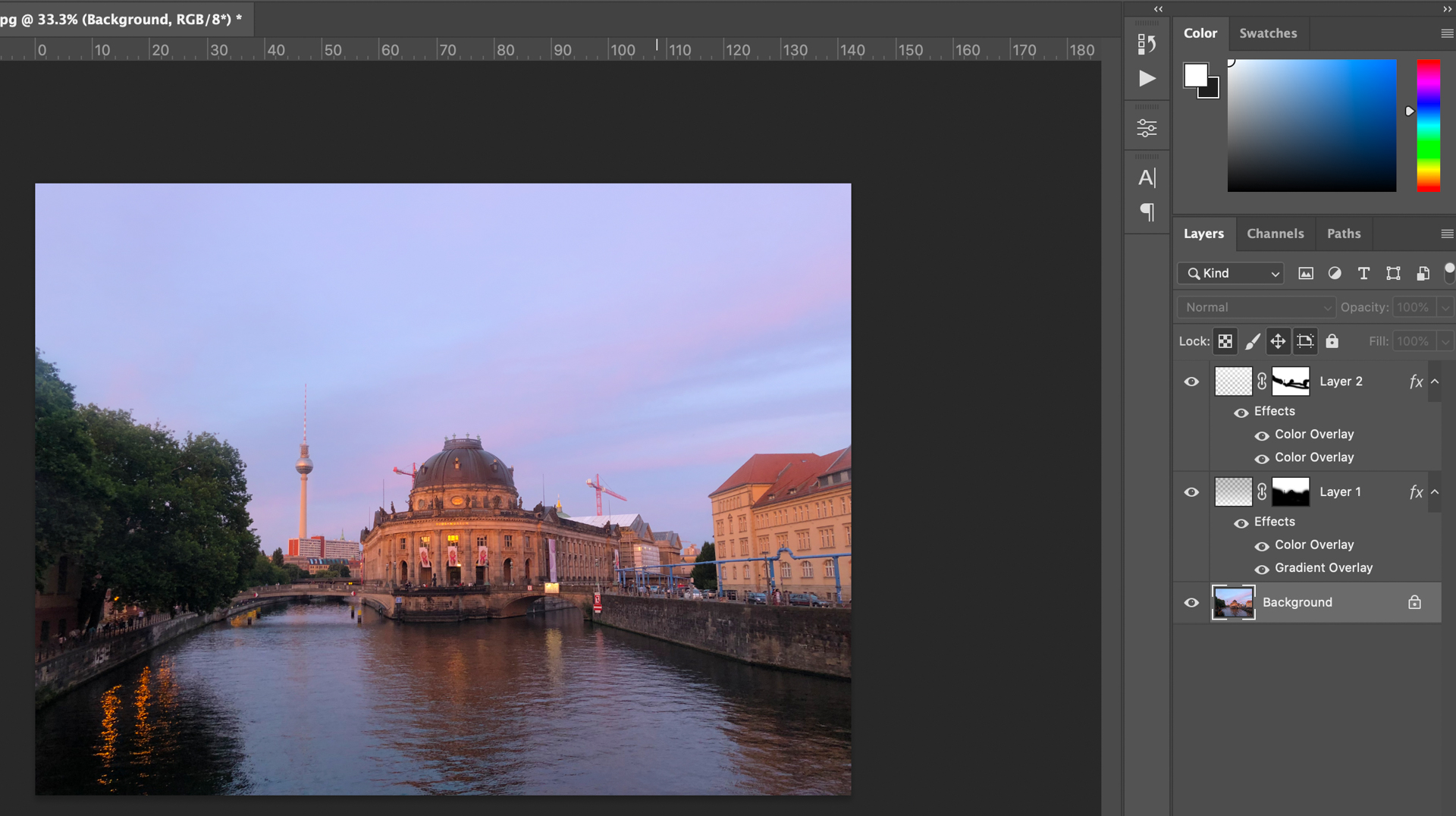 An image with Photoshop layers