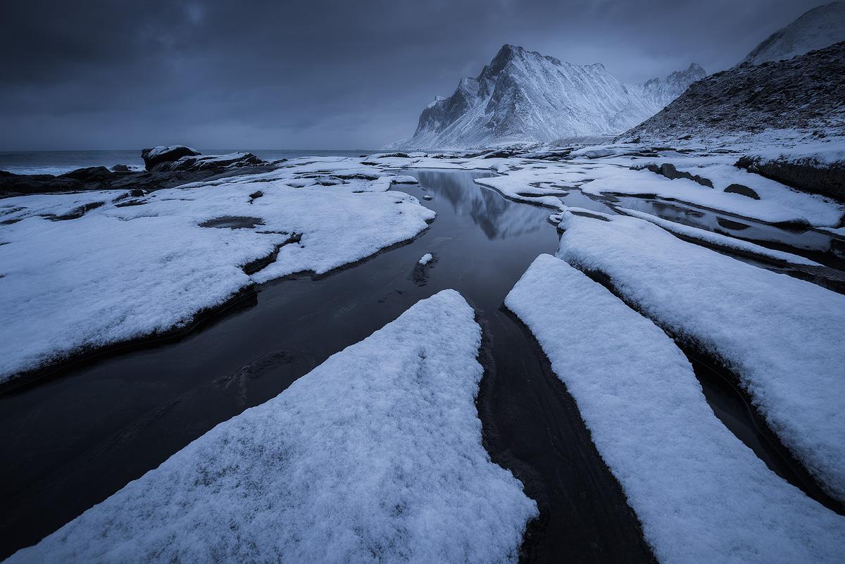 Winter landscape at Lofoten, Norway