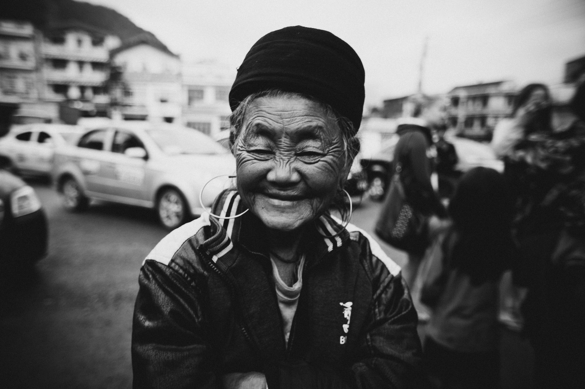 Portrait of a smiling woman in Sa Pa, Vietnam.